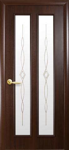 Дверь Стелла ДО (каштан, остекленная ПВХ), фабрика Новый Стиль