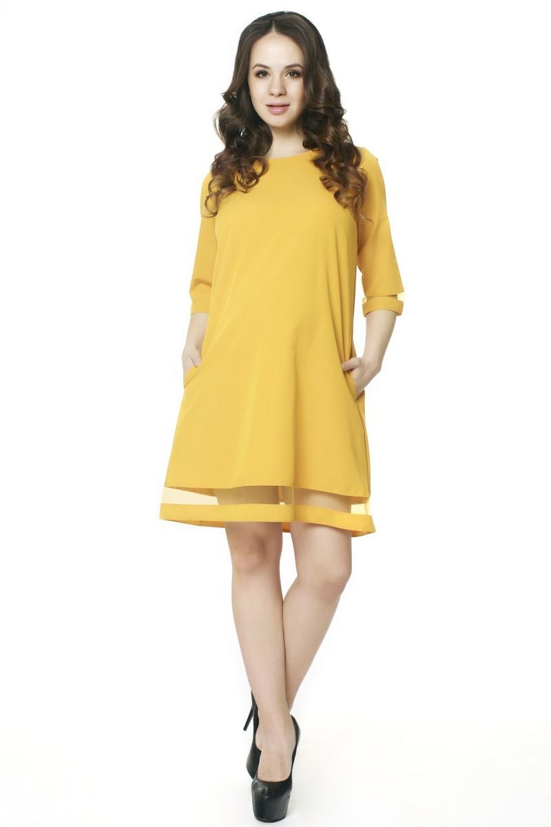 Платье для беременных 07560 горчичный