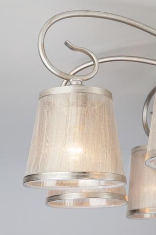 Потолочная люстра с абажурами 60065/8 серебро