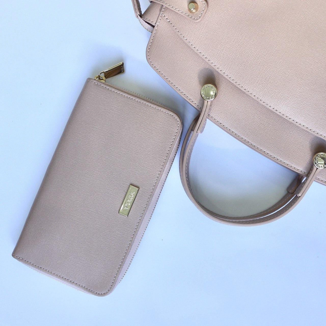 Кошелек FURLA B30 classic zip Moonstone розовый кожаный женский