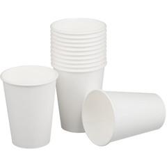 Стакан одноразовый Эконом бумажный белый 300 мл 50 штук в упаковке