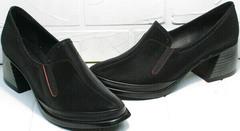 Стильные туфли женские на толстом каблуке 6 см осень весна H&G BEM 167 10B-Black.