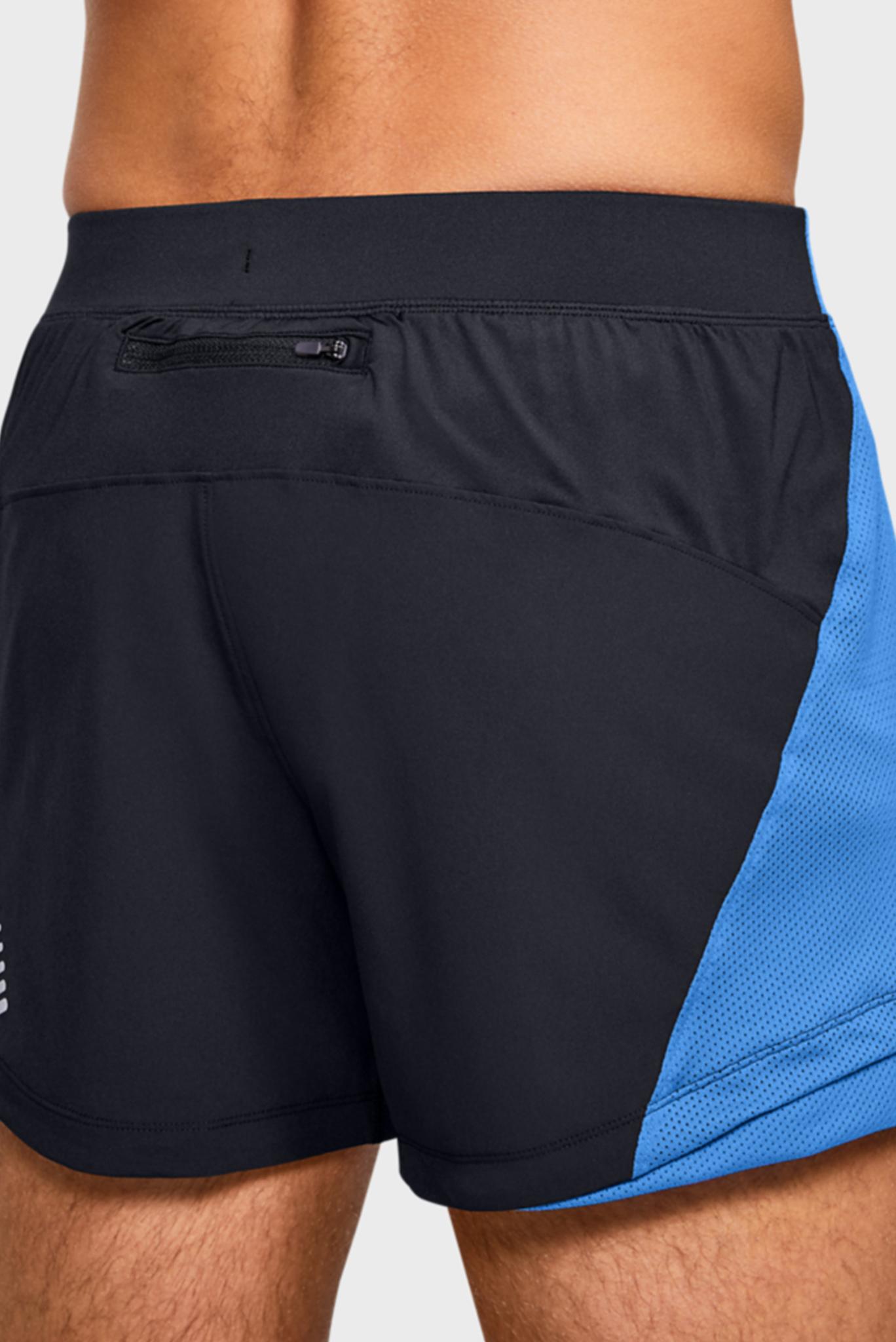 Мужские черные спортивные шорты UA QUALIFIER SPEEDPOCKET 5'' SHORT Under Armour