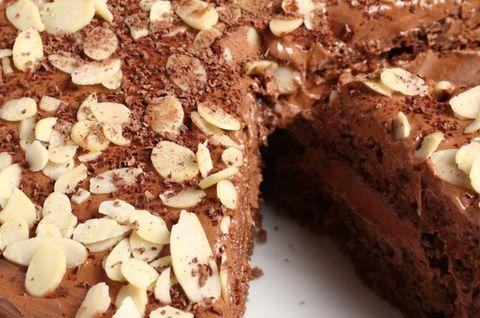 Торт из шоколада и миндаля Венский приготовлен без использования глютена