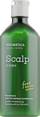 Бессиликоновый укрепляющий кондиционер для волос с розмарином AROMATICA Rosemary Hair Thickening Conditioner 400ML