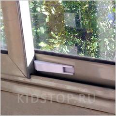 Пластиковый ограничитель для раздвижных окон и дверей