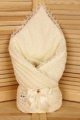 Зимний конверт-одеяло Косичка айвори