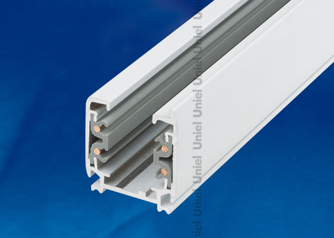UBX-AS4 WHITE 300 POLYBAG Шинопровод осветительный, тип А. Трехфазный. Цвет — белый. Длина 3 м. Упаковка — полиэтиленовый пакет.
