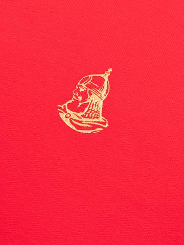 Джемпер с круглым воротом красного цвета