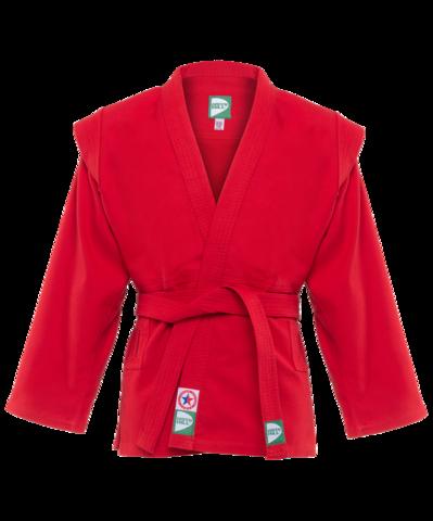 Куртка для самбо JS-302, красная, р.0/130