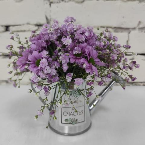 Композиция цветы в кашпо №3