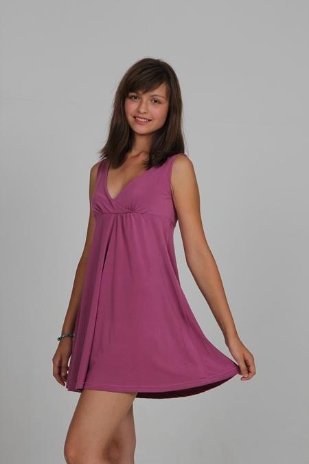 Выкройка сорочки с расклешенной юбкой