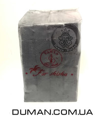 Натуральный кокосовый уголь Yahya (Яхуа) для кальяна | 1кг 72куб 25*25мм