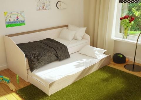 Кровать Паскаль БТС Дуб атланта/ясень шимо