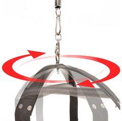 Чёрные секс-качели Spinning Fantasy Swing