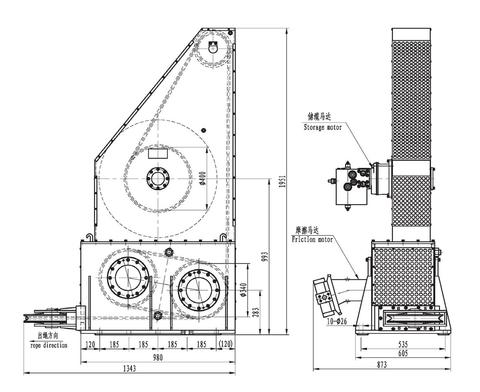 Фрикционная лебедка IMYJ33-65-120-16-ZPG
