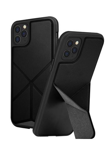 Чехол Uniq Transforma для iPhone 11 Pro | с раскладной магнитной подставкой черный
