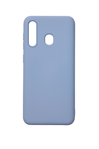 Чехол для Samsung (A205) Galaxy A20 Софт тач мягкий эффект | микрофибра светло-фиолетовый