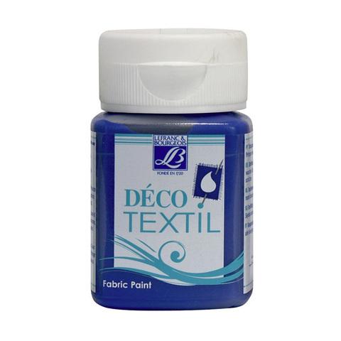 Краска по ткани Lefranc&Bourgeois DECO TEXTIL 50 мл 831, синее море