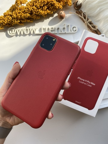 Чехол iPhone 11 good Leather Case (product) /red/