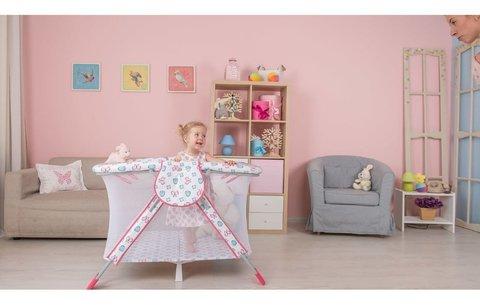 Манеж Polini kids Книжка, розовый