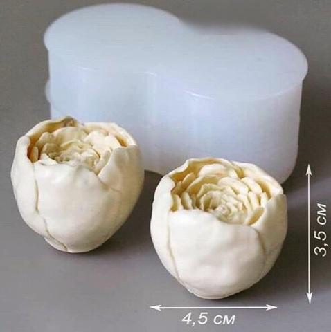 3D ПИОНЫ 2в1 силиконовый молд (35х45мм)