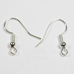 Швензы - крючки с шариком и пружинкой, 18 мм (цвет - серебро), 5 пар