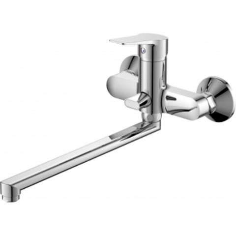 Viko 7105 смеситель для ванны ф40 (встроенный переключатель) L-40см (латунь)