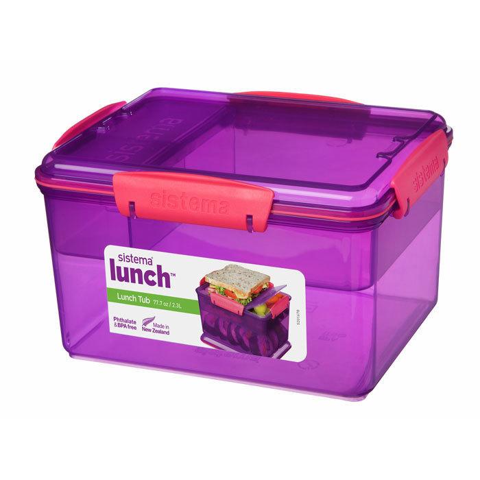 """Ланч-бокс Sistema """"Lunch"""", 4 секции, 2,3 л, цвет Фиолетовый"""