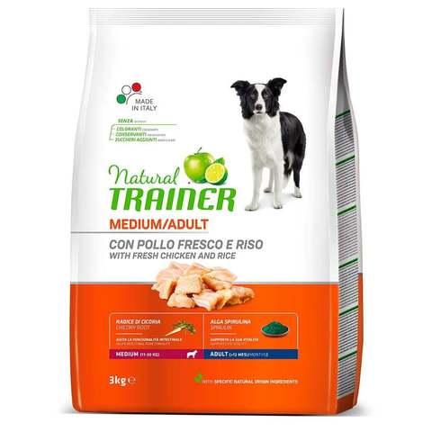 Сухой корм для собак TRAINER курица, с рисом (для средних пород)