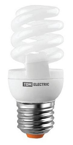 Лампа энергосберегающая КЛЛ-FSТ2-9 Вт-4000 К–Е27 (32х99 мм) TDM
