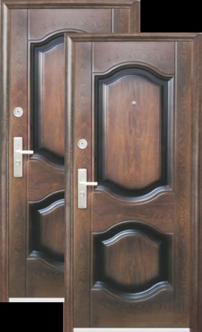Дверь входная Кайзер К 850, 2 замка, 0,8 мм  металл, (тёмный орех+тёмный орех)