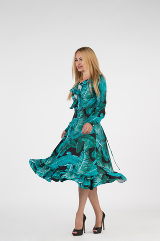 Платье из полиэстера ниже колена Nadya
