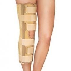 Бандаж фиксирующий коленный усиленный (тутор) с боковыми шинами полная фиксация