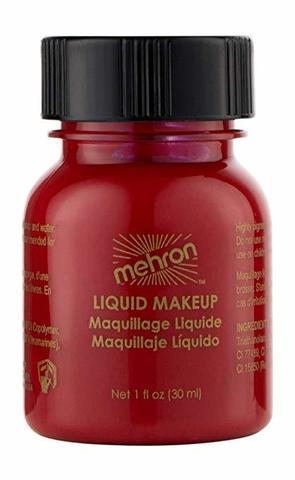 MEHRON Жидкий грим Liquid Makeup, Red (Красный), 30 мл
