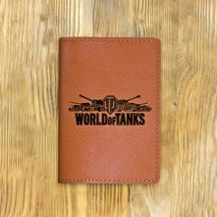 "Обложка на паспорт ""Игра WORLD OF TANKS"", рыжая"