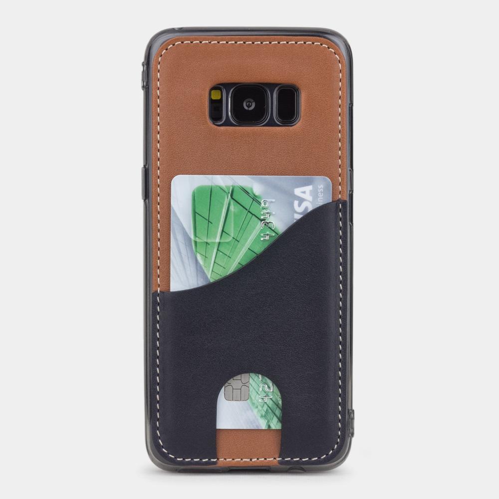 Чехол-накладка Andre для Samsung S8 Plus из натуральной кожи теленка, коричневого цвета