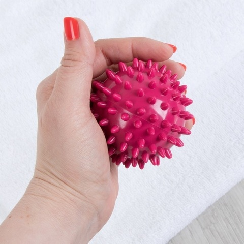 Массажный шарик Ежик , d=6,5 см, пластик