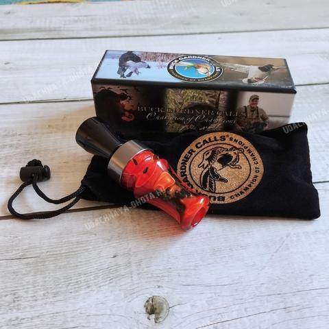 Манок двухъязычковый на кряковую утку Buck Gardner Red Pearl Color Swirl