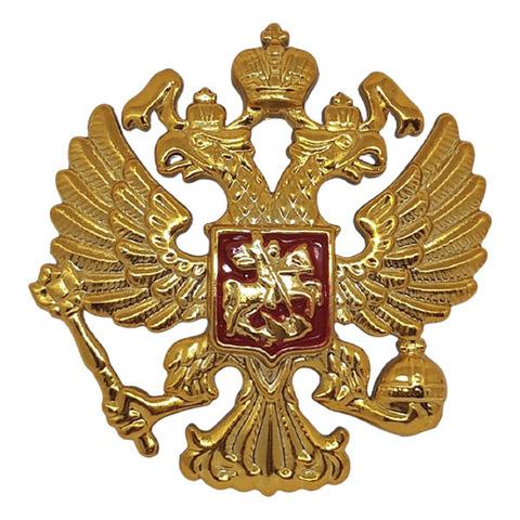 Эмблема на тулью Орел РФ пластик