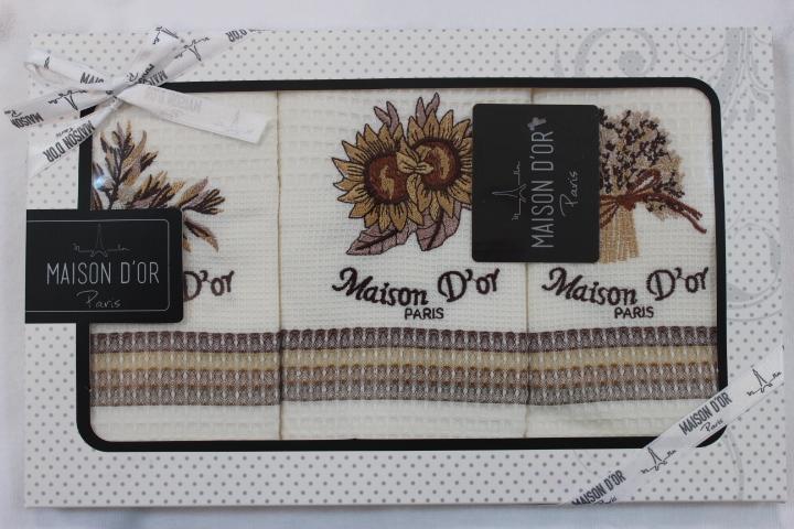 Кухонные полотенца Набор салфеток для кухни STRIPES - СТРИПЕС  50х70  Maison Dor  Турция STRIPES__1_.JPG