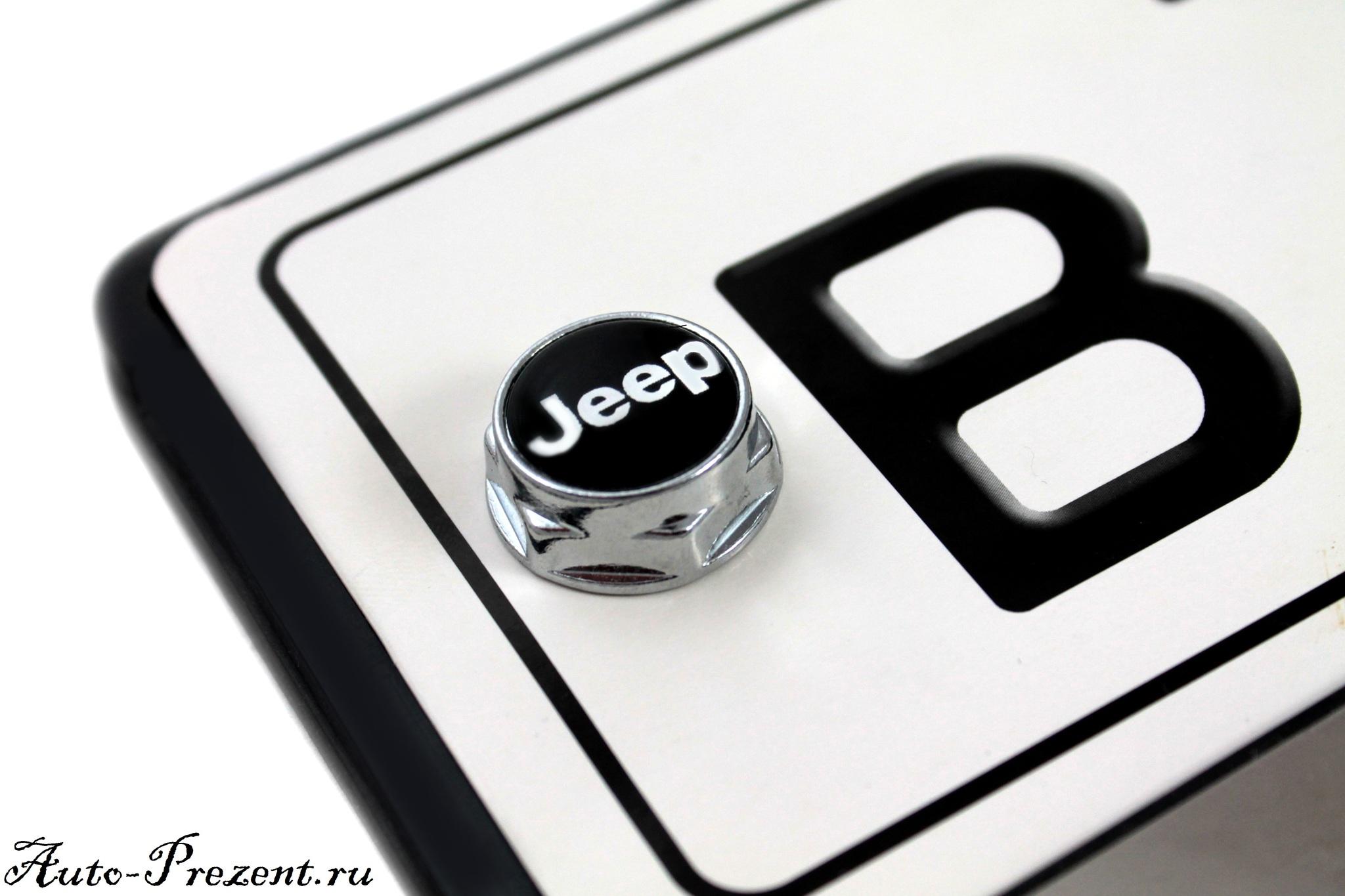 Болты для крепления госномера с логотипом JEEP