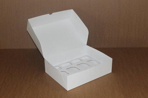 Коробка для 12 капкейков 35*25*10 без окна, белая