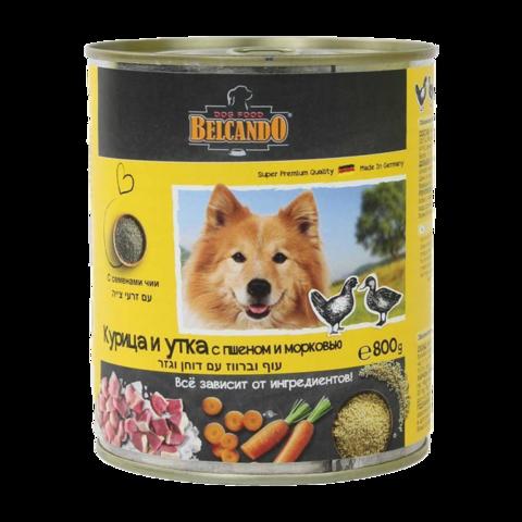 Belcando Huhn & Ente Консервы для собак с курицей, уткой, пшеном и морковью (Банка)