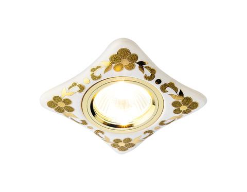 Встраиваемый потолочный точечный светильник D2065 W/GD белый золото