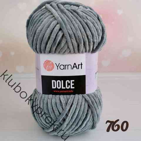 YARNART DOLCE 760, Темный серый