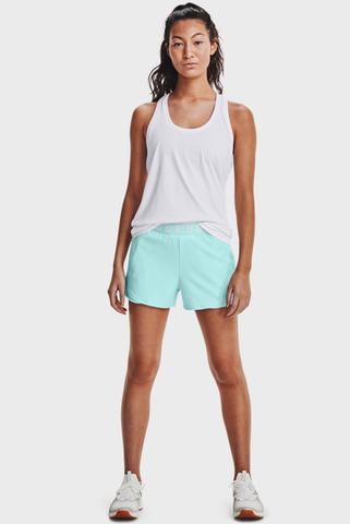 Женские мятные шорты Play Up Shorts Emboss 3.0 Under Armour