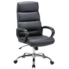 Кресло BN_U_EChair-679 TR рецикл.кожа черный, хром