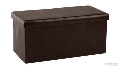 Банкетка-пуф ПФ-10 складной коричневый