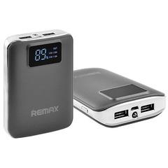 Power Bank Remax 10000mAh 2USB(1A+2A), цифровой дисплей с подсветкой, фонарик 1LED (146)